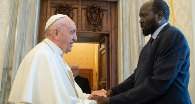 Sudán del Sur: El Papa expresa al Presidente Mayardit su deseo de viajar al país