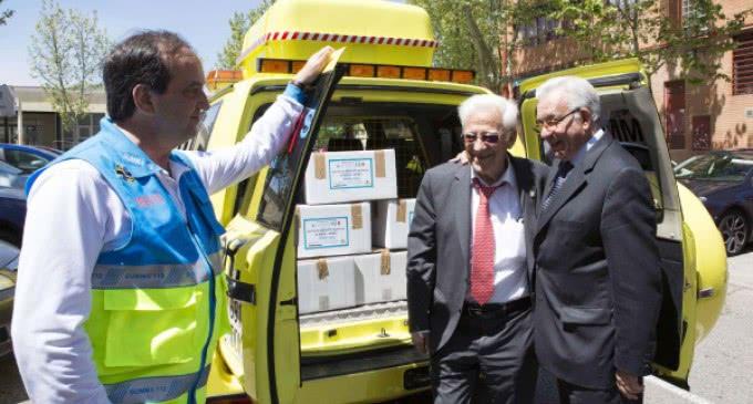 El SUMMA 112 dona 700 raciones de alimentos de campaña al banco solidario de alimentos de Mensajeros de La Paz