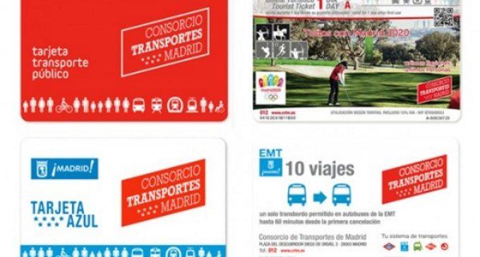 La Comunidad de Madrid contará con una nueva Tarjeta de Transporte Público No Personal sin contacto desde el mes de julio