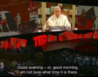 Texto completo del papa Francisco al TED 2017 de Vancouver 'The future you'