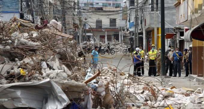 Ayuda de emergencia de AIN para Ecuador. Son urgentes bienes de primera necesidad
