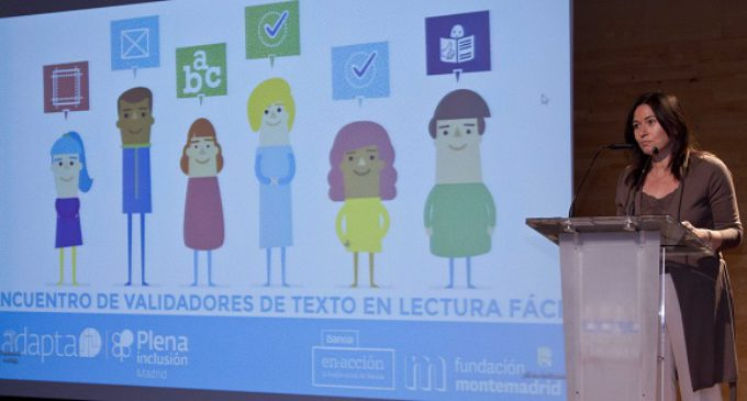 """Belén Prado inaugura el """"Primer Encuentro de Validadores de Lectura Fácil"""", organizado por Plena Inclusión"""