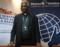 El cardenal Peter Turkson en Madrid: «No somos una ONG más. Lo que nos inspira es la caridad de Cristo»