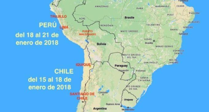 Viaje del Papa a Perú: en Lima dos lugares para recibir de 2 a 5 millones de personas