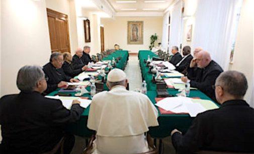 El C-9 reitera su apoyo total a todo lo operado por el papa Francisco