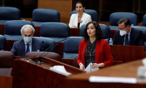 Díaz Ayuso anuncia que la Comunidad ha recibido un préstamo de 600 millones del BEI para el COVID-19