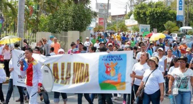 Nicaragua: miles en Managua, en la IV marcha por la vida