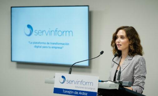 """Díaz Ayuso defiende un modelo sólido que potencie el tejido empresarial y atraiga talento: """"Somos un Gobierno en el que se puede confiar"""""""
