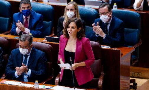 Díaz Ayuso anuncia que desde el próximo lunes las mascarillas dejarán de ser obligatorias en los recreos de los colegios