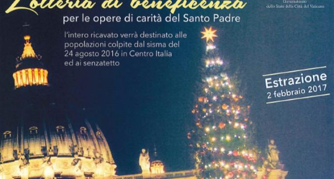 La recaudación de la Lotería del Papa para las víctimas del terremoto en Italia