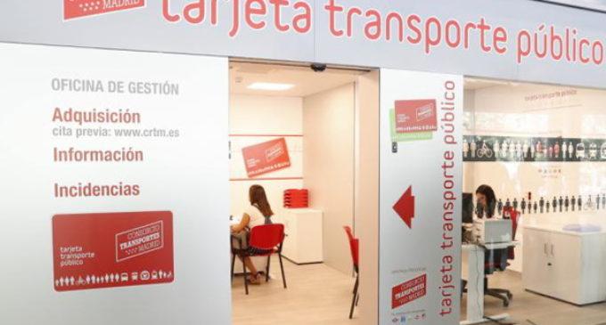 Madrid reabre las oficinas de gestión de la Tarjeta de Transporte Público en Getafe, Alcalá de Henares y Príncipe Pío