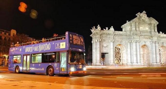 La iluminación de Madrid se puede visitar en el bus de la Navidad