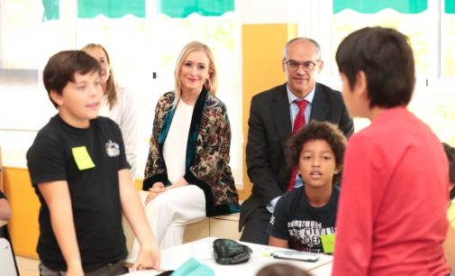 Cifuentes destaca la reducción en un 38 % de los casos de acoso escolar tras la puesta en marcha del Plan de prevención de la Comunidad