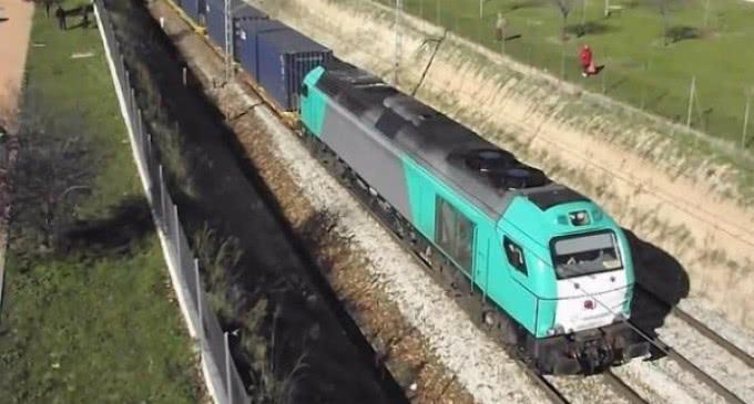 Llega a Madrid el tren China-España